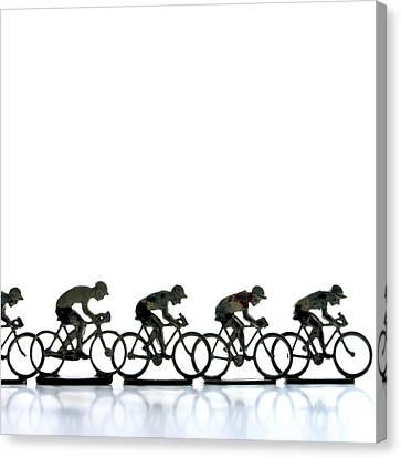 Cyclists Canvas Print by Bernard Jaubert