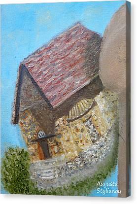 Cyprus Asinou Church Canvas Print by Augusta Stylianou