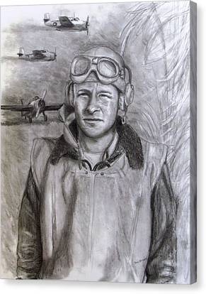 Dad Ww2 Canvas Print by Jack Skinner