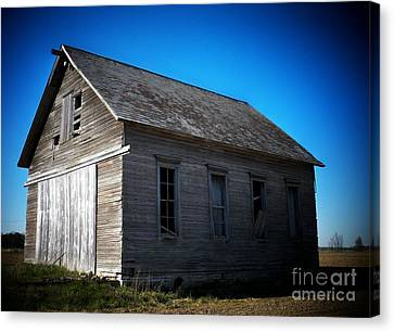 Daddys Old School House Canvas Print by Joyce Kimble Smith
