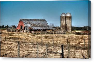 Dairy Barn Canvas Print by Michael Thomas