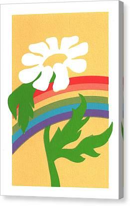 Daisy's Rainbow Canvas Print by Terry Taylor