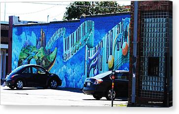 Dallas Street Art 4 Canvas Print by DiDi Higginbotham