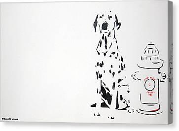 Dalmatian Canvas Print by Michael Ringwalt