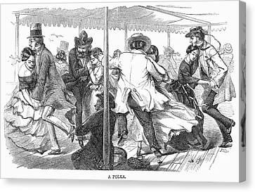 Dance: Polka, 1858 Canvas Print by Granger