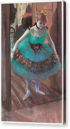 Dancer Leaving Her Dressing Room Canvas Print by Edgar Degas