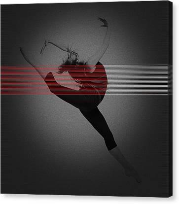 Dancer Canvas Print by Naxart Studio