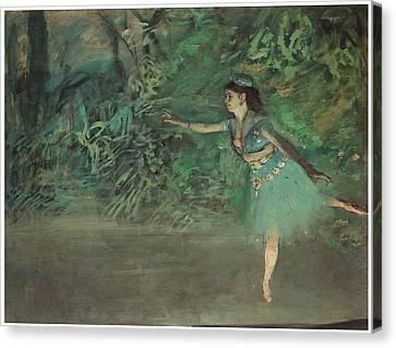 Dancer On The Stage Canvas Print by Edgar Degas