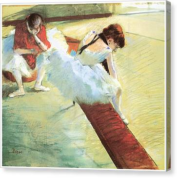 Dancers Resting Canvas Print by Edgar Degas
