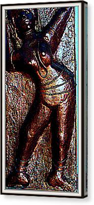 Dancing Girl Canvas Print by Anand Swaroop Manchiraju