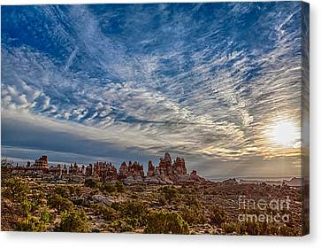 Dancing Light And Clouds 3 Canvas Print by Scotts Scapes