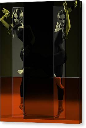 Dancing Mirrors Canvas Print by Naxart Studio