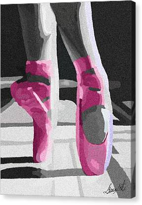 Dancing On Pink Satin Canvas Print by Lance  Kelly