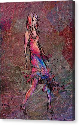Dancing The Nights Canvas Print by Rachel Christine Nowicki