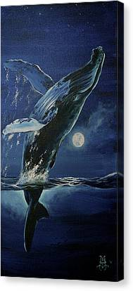 Dancing With The Moon Canvas Print by Marco Antonio Aguilar
