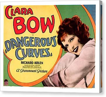 Dangerous Curves, Clara Bow, 1929 Canvas Print by Everett