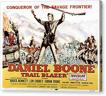 Daniel Boone, Trail Blazer, Bruce Canvas Print by Everett