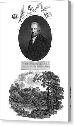 Daniel Rutherford, Scottish Chemist Canvas Print by Science Source