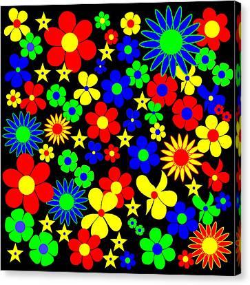 Danish Flowers Flora Danica Square Canvas Print by Asbjorn Lonvig