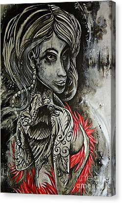 Dark Inked Icon Canvas Print by Sandro Ramani