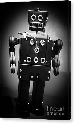 Dark Metal Robot Canvas Print by Edward Fielding