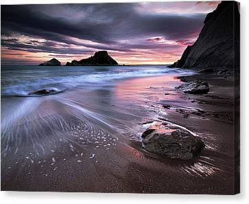 Dark Sunrise On Hidden Bay Canvas Print by Danyssphoto