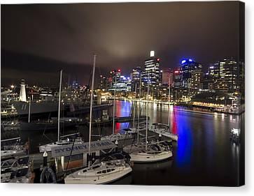 Darling Harbor Sydney Skyline 2 Canvas Print by Douglas Barnard