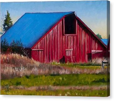 Darst Barn On West Beach Road Canvas Print by Stacey Neumiller