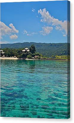 Davao Above And Below Canvas Print by Arj Munoz