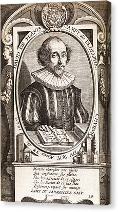 David De Planis Campy, French Alchemist Canvas Print by Middle Temple Library