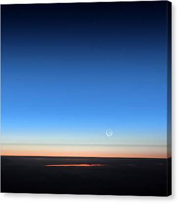 Dawn Seen From An Aeroplane Canvas Print by Detlev Van Ravenswaay