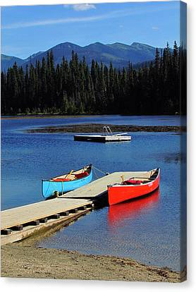 Day At The Lake Canvas Print by Andrea Arnold