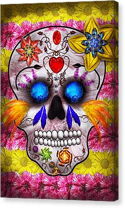 Day Of The Dead - Death Mask Canvas Print by Mike Savad