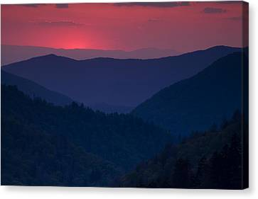 Day Over In The Smokies Canvas Print by Andrew Soundarajan