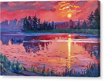 Daybreak Reflection Canvas Print by David Lloyd Glover