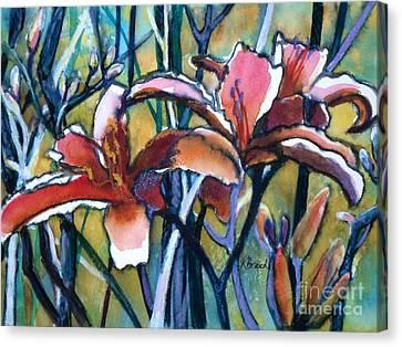 Daylily Stix Canvas Print by Kathy Braud