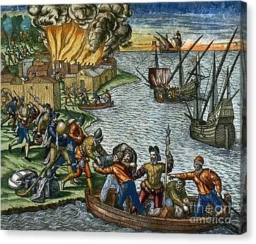 De Bry: Chicora, 1590 Canvas Print by Granger