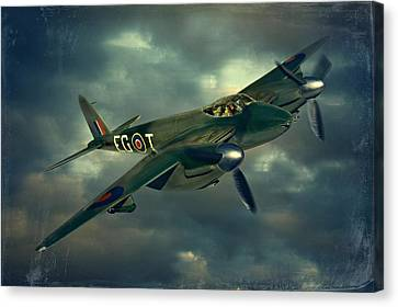 De Haviland Mosquito Canvas Print by Steven Agius