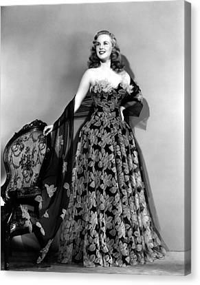 Deanna Durbin In Hoop Skirt Styled Lace Canvas Print by Everett