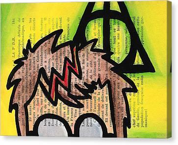 Deathly Hallows Harry Canvas Print by Jera Sky