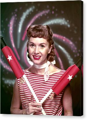Debbie Reynolds, 1950s Canvas Print by Everett