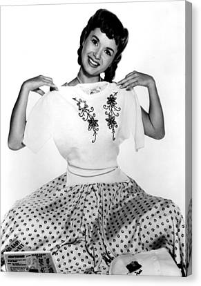 Debbie Reynolds, Portrait, Ca. 1950s Canvas Print by Everett