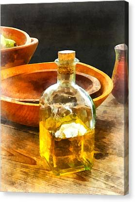 Decanter Of Oil Canvas Print by Susan Savad