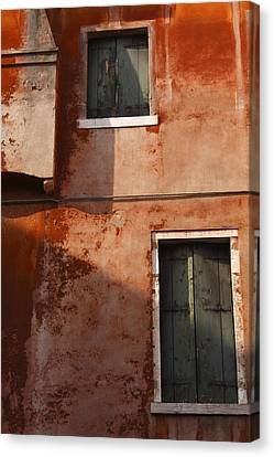 Decayed Facade Of A Building Venice Canvas Print by Trish Punch