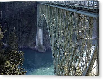Deception Pass Bridge South Span Canvas Print by Randall Thomas Stone