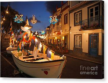 Decorated Fishing Boats Canvas Print by Gaspar Avila