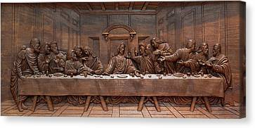 Decorative Panel - Last Supper Canvas Print by Goran