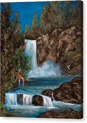 Deer Falls Canvas Print by Gloria Jean