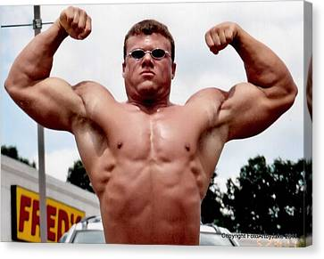Definition Of Muscle Trey Smith Canvas Print by Jake Hartz