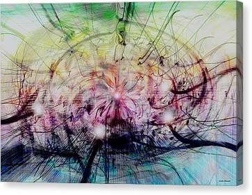 Deform To Form A Star Canvas Print by Linda Sannuti